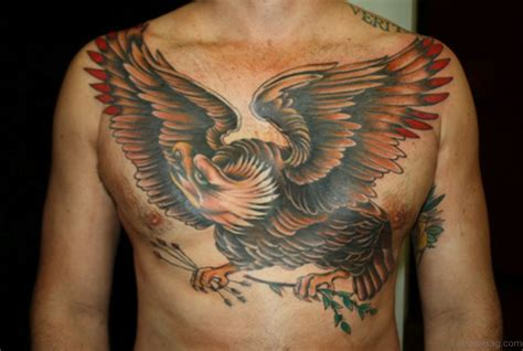 eagle chest tattoos 60 graceful eagle tattoos on chest