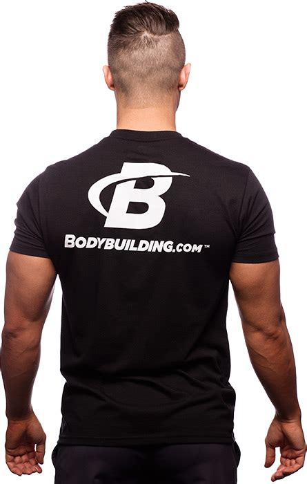 supplement t shirts uk classic fitted logo t shirt by bodybuilding clothing