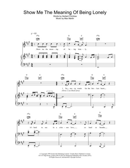 scow meaning download show me the meaning of being lonely sheet music