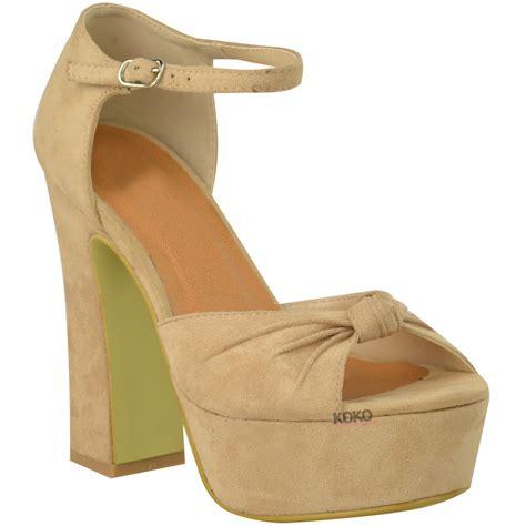 Wedges Bintage new high heel platform wedge shoes womens open toe