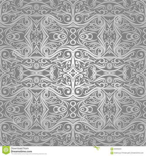 wallpaper batik tribal wallpaper batik swirl and floral ethnic ornament on silver