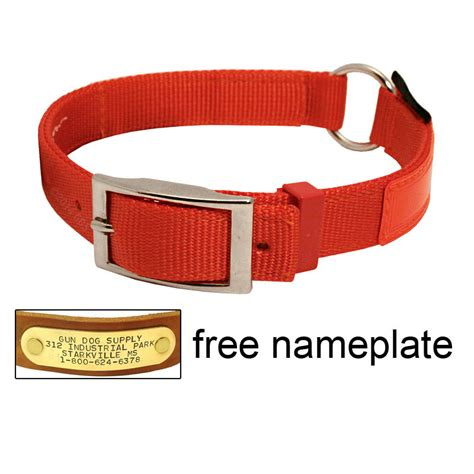 service in collar orange reflexite center ring safety collar 1654 9 99