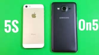 Samsung Galaxy On5 Vs J3 iphone 5s vs samsung galaxy on5