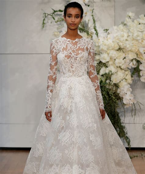 wedding gowns with sleeves sleeve wedding dresses at bridal fashion week