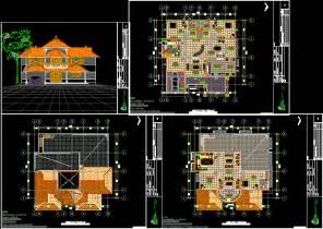 Autocad Plans Of Houses Dwg Files Free Download House Plan In Autocad Drawing Bibliocad