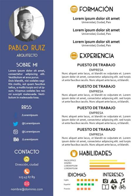 curriculum vitae formato ideal el color ideal para un curr 237 culum modelo curriculum