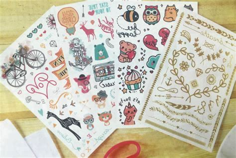 tattoo paper philippines this temporary tattoo book has some of the cutest designs