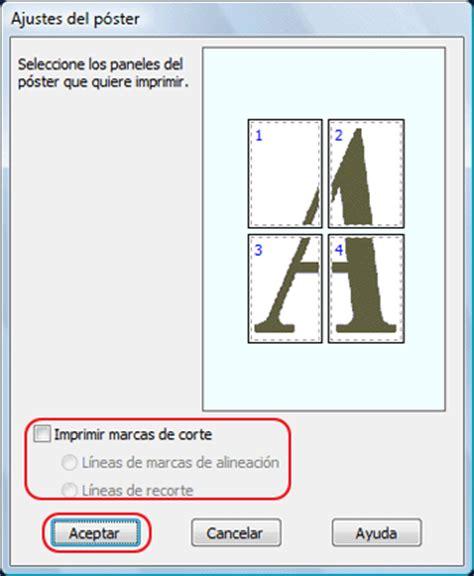 imagenes en varias hojas impresi 243 n de p 243 ster s 243 lo en windows