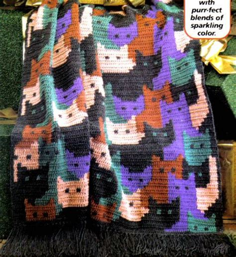 pattern for cat afghan purr fect cats afghan crochet pattern instructions cats