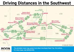 us map and driving distances southwest road trip stops and roadside attractions