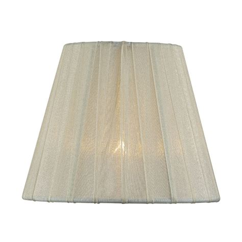 empire pleated l shades pleated cream empire l shade with clip on assembly