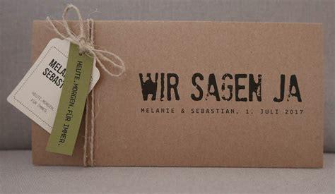 Hochzeitseinladung 3d by Hochzeitskarten Aus Kraftpapier Kraft Wedding Invitations