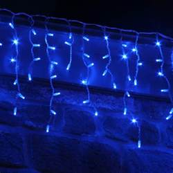lights icicle 100 led blue icicle lights connectable for outdoor use