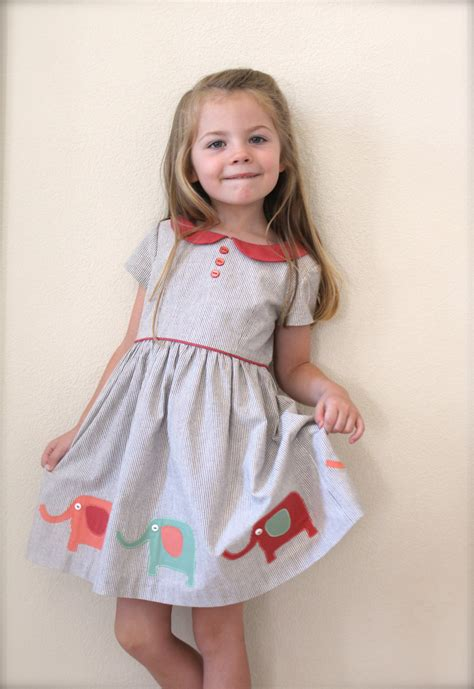 dress pattern with peter pan collar girls dress pattern the vintage kate dress sizes included to