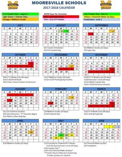 school calendars mooresville schools