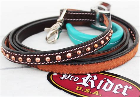 Horse Tack Sweepstakes - horse 8ft contest western tack barrel leather rein reins rodeo equine 6636 ebay