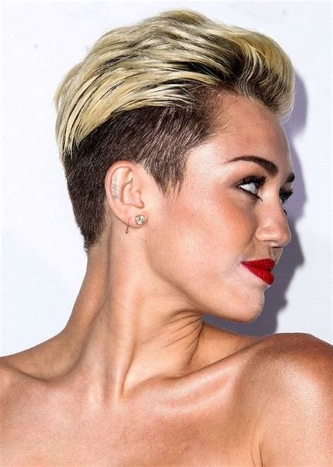 miley cyrus inspired womans disconnected haircut barber 167 best short hairstyles 2017 images on pinterest short