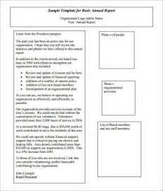 annual report template doc 600700 sle annual report annual report template