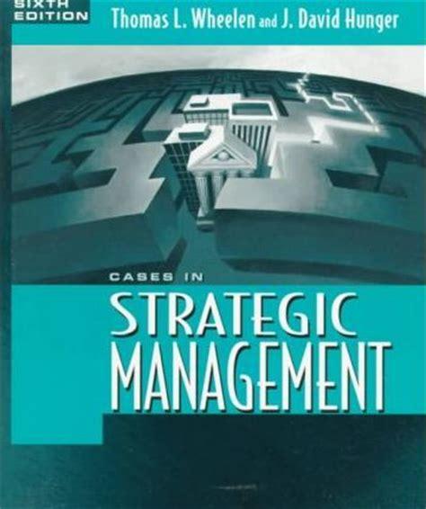 Manajemen Strategis J David Hunger cases in strategic management j david hunger