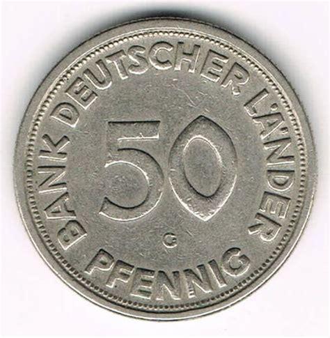 50 pfennig bank deutscher länder 1950 g west germany 50 pfennig 1950 g bank deutscher l 228 nder