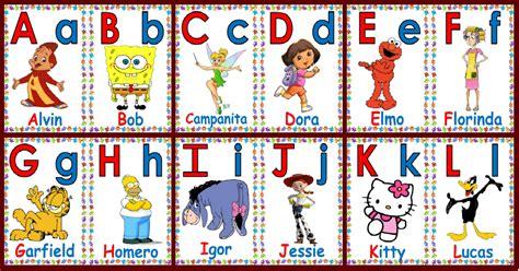 imagenes educativas el abecedario abecedario cartoon solo descargar e imprimir pdf
