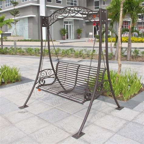 wrought iron swing with stand wrought iron porch swing with stand