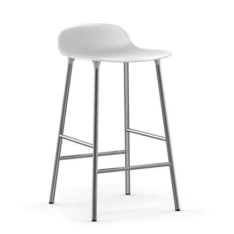 gestell weiss 65 bar stool form by normann copenhagen