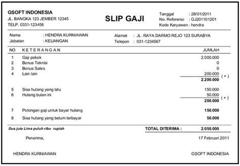 free download slip gaji format excel contoh slip gaji slip gaji latest version 2017 free
