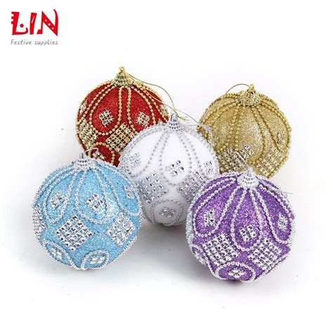 christmas 8 cm stuck drill beads luxurious foam ornaments