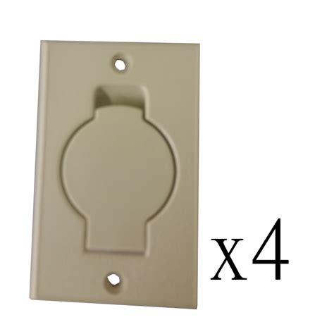 4 Hayden Central Vacuum Wall Inlet Round Door, Ivory