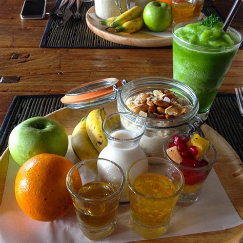 Detox Breakfast Menu by Thanyapura Sports Hotel Retreat In A World Class Sports