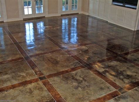Concrete Stained Floors by Garage Floor Preparation Cement Preparation For Epoxy