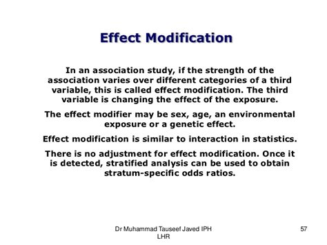 Modification Effect by Bias Confounding And Fallacies In Epidemiology