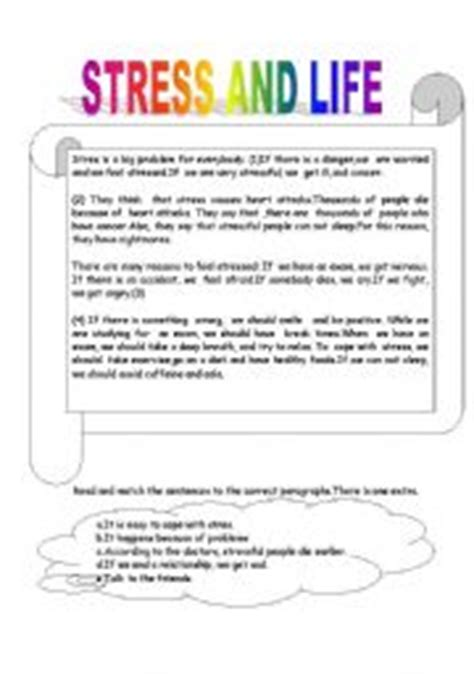 printable stress quiz for college students stress worksheets for high school the large and most