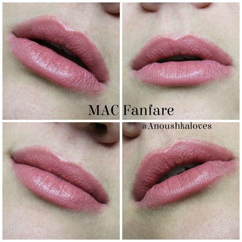 Mac Lip mac lipstick in fanfare anoushka