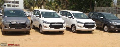 Toyota Innova Base Model Fleet Of Toyota Innova Crystas Spied At Dealer Stockyard