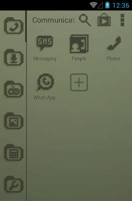 android themes vintage retro lcd android theme for smart launcher 2