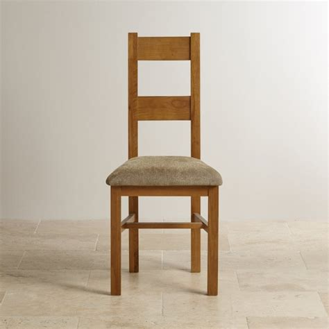 Farmhouse Dining Chair by Farmhouse Rustic Solid Oak Fabric Dining Chair Plain