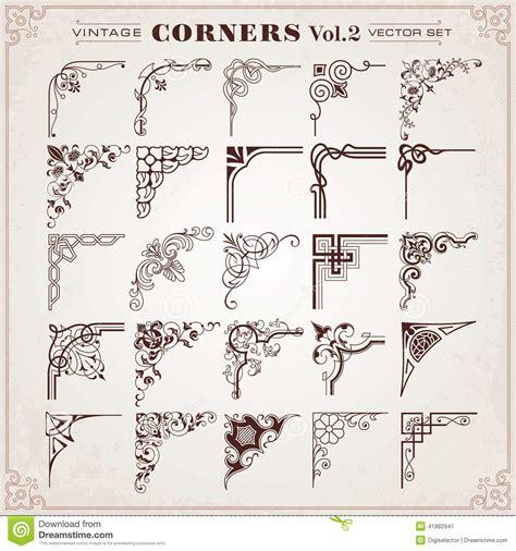 borders design elements vector vintage design elements corners and borders stock vector