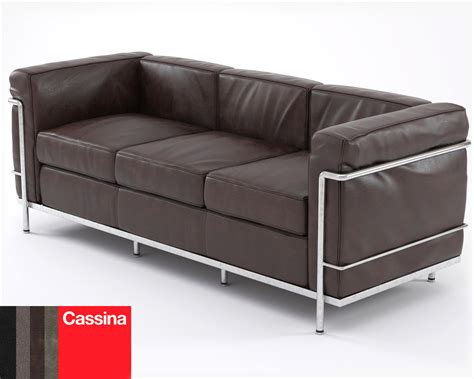 lc2 couch 3d le corbusier sofa lc2