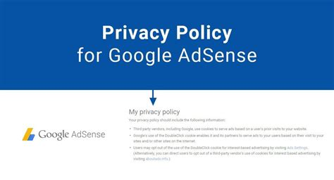 adsense google sites privacy policy for google adsense termsfeed