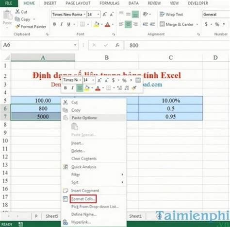 Formatting Excel Spreadsheet by Formatting Data In An Excel Spreadsheet