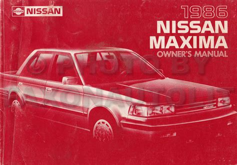 car repair manual download 2005 nissan maxima spare parts catalogs 1986 nissan maxima owner s manual original