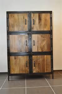 armoire bois massif et m 233 tal industrielle meubles et