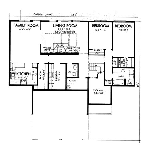 berm house floor plans genesta contemporary berm home plan 072d 1088 house