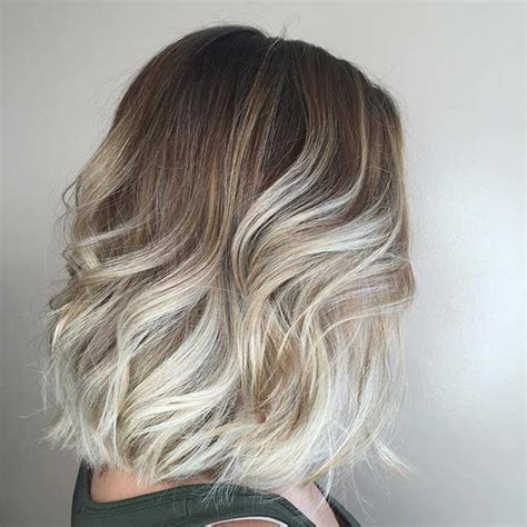blond ombre bob 21 cute lob haircuts for this summer stayglam