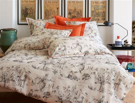 linge de lit toile de jouy linge de lit toile d ailleurs linvosges