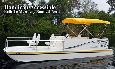 handicap fishing boat handicap wheelchair accessible boats by h2o mobility