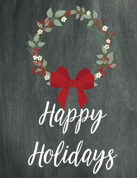printable christmas wall decorations free printable chalkboard wall 6 designs