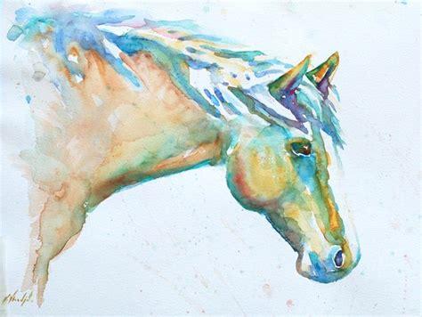 watercolor horse tutorial watercolor horse cool things pinterest